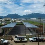 14' clear perimeter solar canopy, Marine Corps Base HI, Sunetric