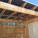 Solar Pool House with water tight bifacial modules