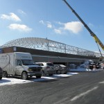 Welded Tube Truss Structure on Parking Deck, Dovetail Solar and Wind