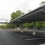 HDG Solar Canopy with Castellated Beam, 12 Clearance, NJ, Gloria Solar